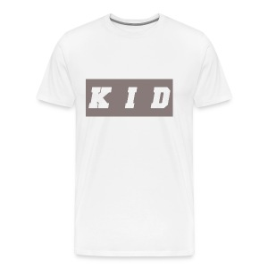 K I D White t-shirt transparent - Men's Premium T-Shirt