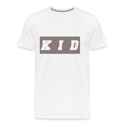 K I D White t-shirt transparent - Men's Premium T-Shirt