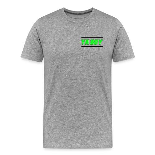 Grey T-Shirt (Ya Boy Green) - Men's Premium T-Shirt