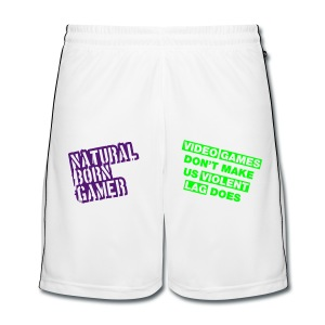 Non-Official White geek shorts - Men's Football shorts