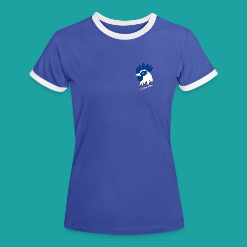 tee-shirt coqbleu bleu clair - T-shirt contrasté Femme