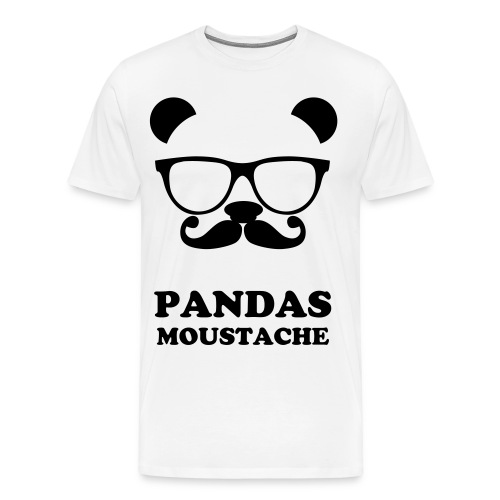 PANDAS MOUSTACHE - Men's Premium T-Shirt