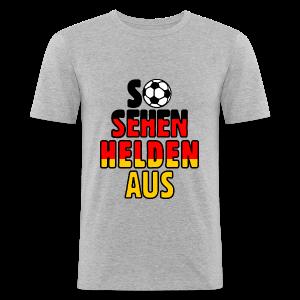 Fußball Deutschland Helden Fan Slim Fit T-Shirt - Männer Slim Fit T-Shirt