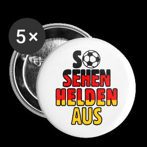 Fußball Deutschland Helden Fan Anstecker (Groß) - Buttons groß 56 mm
