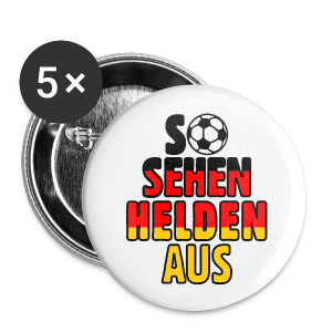 Fußball Deutschland Helden Fan Anstecker (Klein) - Buttons klein 25 mm