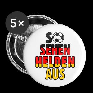 Fußball Deutschland Helden Fan Anstecker (Mittel) - Buttons mittel 32 mm
