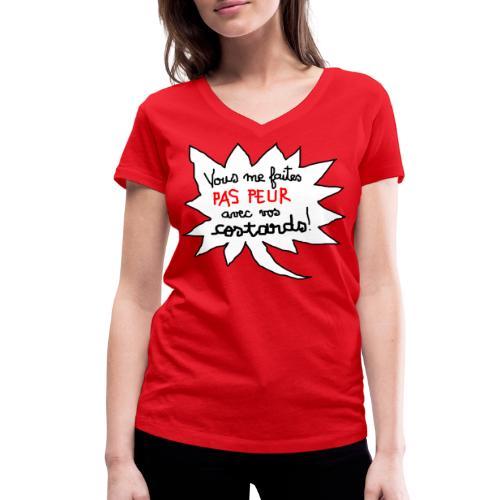 Col V pour femme - T-shirt bio col V Stanley & Stella Femme