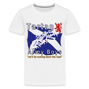 Tartan Army Boys Coming teens t-shirt - Teenage Premium T-Shirt