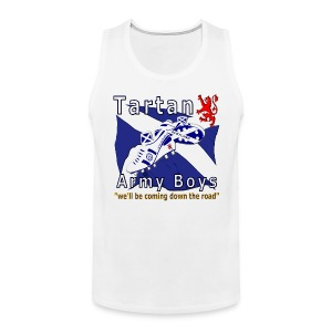 Tartan Army Boys Coming mens tank top shirt - Men's Premium Tank Top
