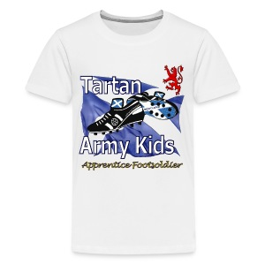 Tartan Army Kids Saltire premium t-shirt - Teenage Premium T-Shirt