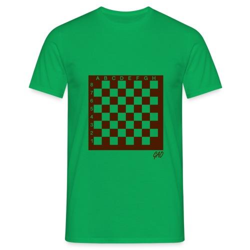 GAO - Check Mate - Shirt Herren Grün - Männer T-Shirt