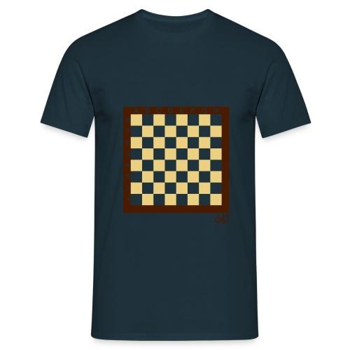 GAO - Check Mate - Shirt Herren Dark Blue - Männer T-Shirt
