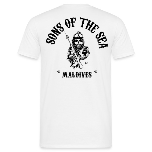 men's T-Shirt #1 - Sons of the Sea - MALDIVES - WHITE - Men's T-Shirt
