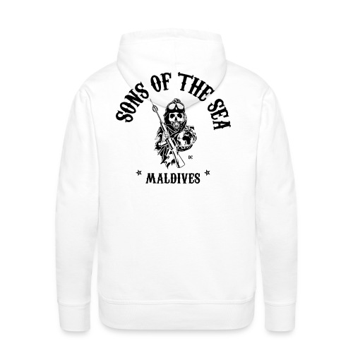 men's Hoodie #2 - Sons of the Sea - MALDIVES - WHITE - Men's Premium Hoodie