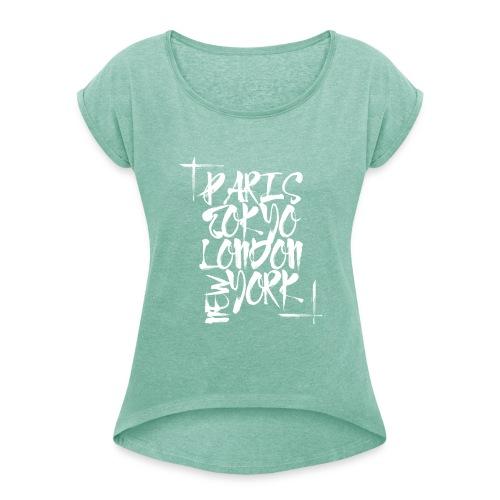 Big Citys - Frauen T-Shirt mit gerollten Ärmeln