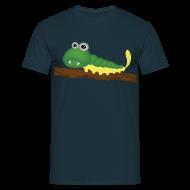 Tee shirts ~ Tee shirt Homme ~ Chenille verte et jaune sur branche