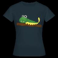 Tee shirts ~ Tee shirt Femme ~ Chenille verte et jaune sur branche