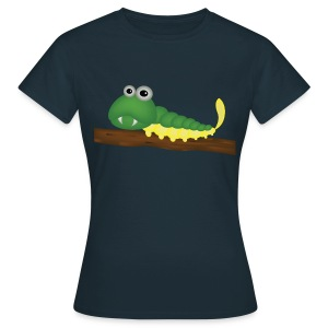 Chenille verte et jaune sur branche - T-shirt Femme