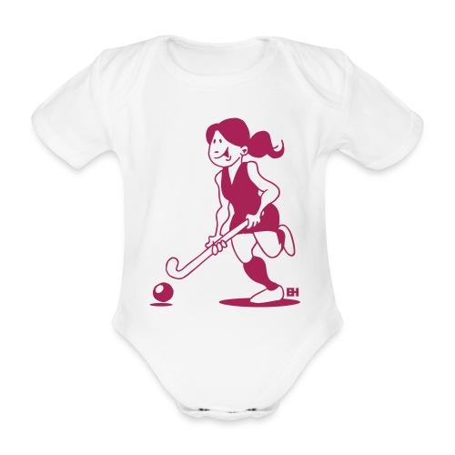 Landhockey flicka Babybody - Organic Short-sleeved Baby Bodysuit