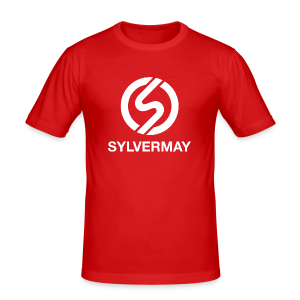 T-shirt S by Sylvermay collection (Rouge/Red) - Men's Slim Fit T-Shirt
