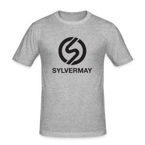 T-shirt S by Sylvermay collection (Gris chiné/Heather gray) - Men's Slim Fit T-Shirt