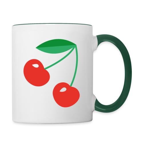 Cherries Tasse - Tasse zweifarbig
