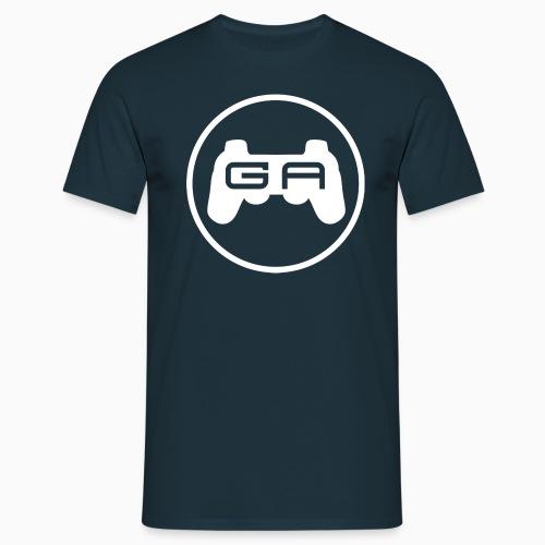 Herre T-shirt med hvidt logo - Herre-T-shirt