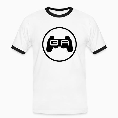 Herre kontrast T-shirt med sort logo - Herre kontrast-T-shirt