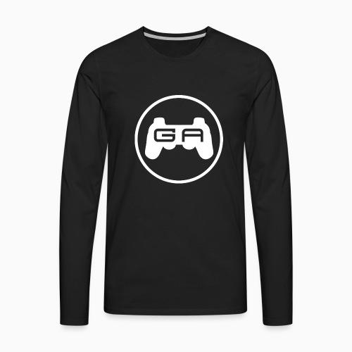 Langærmet Herre T-shirt med hvidt logo - Herre premium T-shirt med lange ærmer