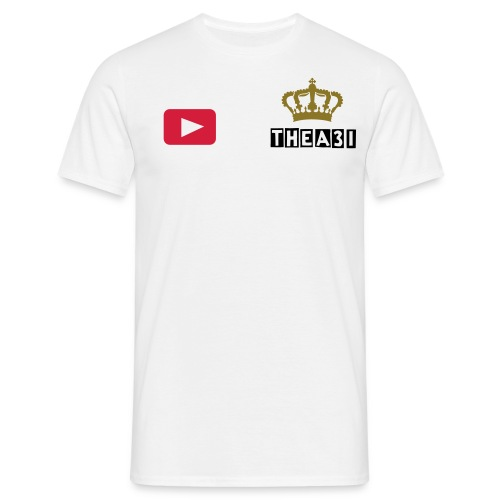 A3I Crown white youtube t-shirt - Men's T-Shirt