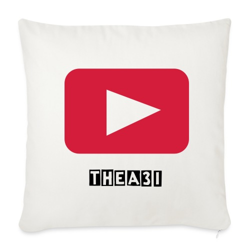 A3I white YouTube pillow - Sofa pillow cover 44 x 44 cm