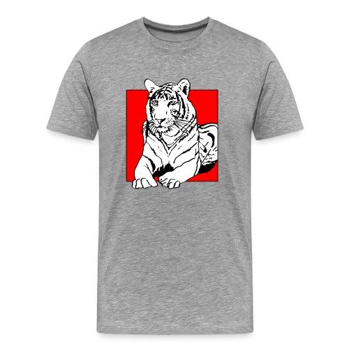 Red Cube Tiger T-Shirt - Männer Premium T-Shirt