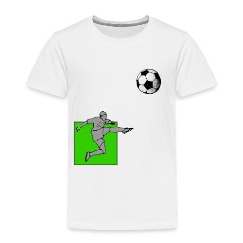Fußballer schießt und trifft - Kinder Premium T-Shirt