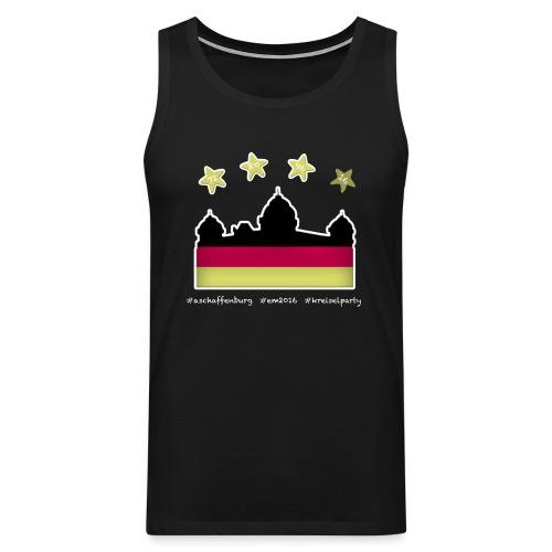 Fanshirt EM 2016 Aschaffenburg - Herren, Tanktop, schwarz - Männer Premium Tank Top