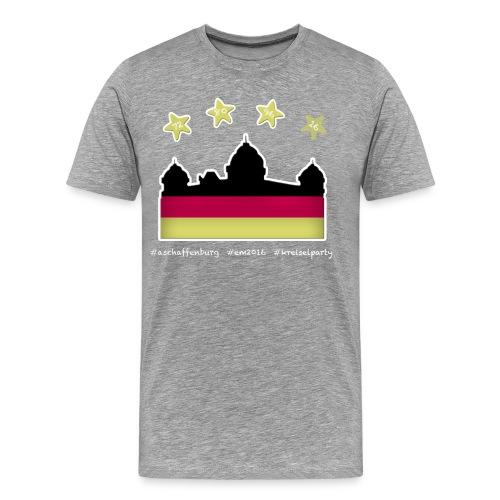 Fanshirt EM 2016 Aschaffenburg - Herren, T-Shirt, Rundhals, grau - Männer Premium T-Shirt