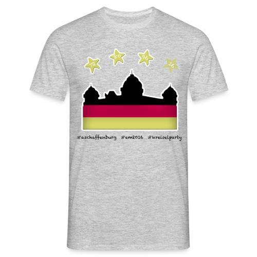 Fanshirt EM 2016 Aschaffenburg - Herren, T-Shirt, Rundhals, grau - Männer T-Shirt