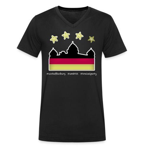 Fanshirt EM 2016 Aschaffenburg - Herren, T-Shirt, V-Neck, schwarz - Männer Bio-T-Shirt mit V-Ausschnitt von Stanley & Stella