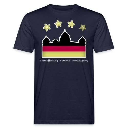 Fanshirt EM 2016 Aschaffenburg - Herren, T-Shirt, Rundhals, dunkelblau - Männer Bio-T-Shirt