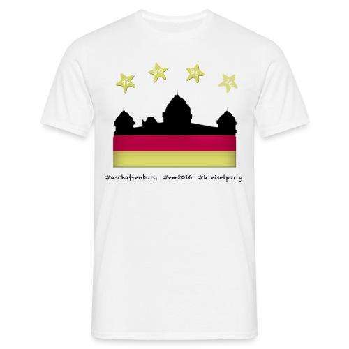 Fanshirt EM 2016 Aschaffenburg - Herren, T-Shirt, Rundhals, weiß - Männer T-Shirt