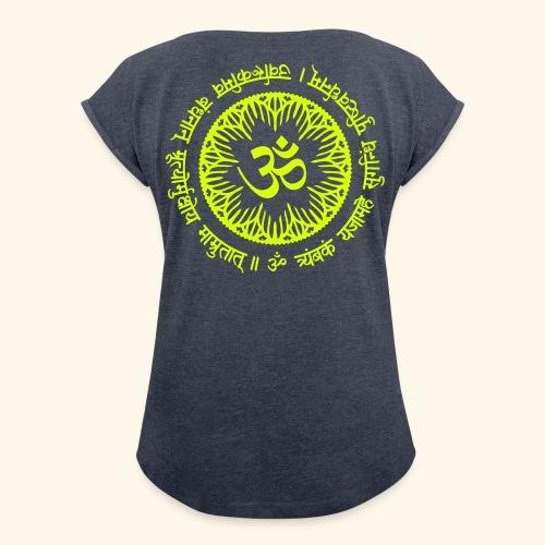 Namasté Mantra T-Shirt - Frauen T-Shirt mit gerollten Ärmeln