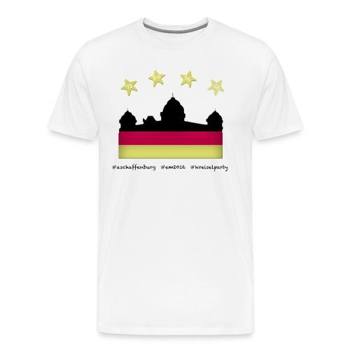 Fanshirt EM 2016 Aschaffenburg - Herren, T-Shirt, Rundhals, weiß - Männer Premium T-Shirt