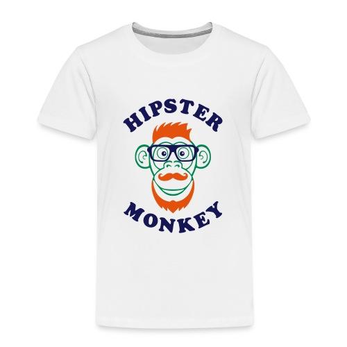 Hipster Monkey - T-shirt Premium Enfant