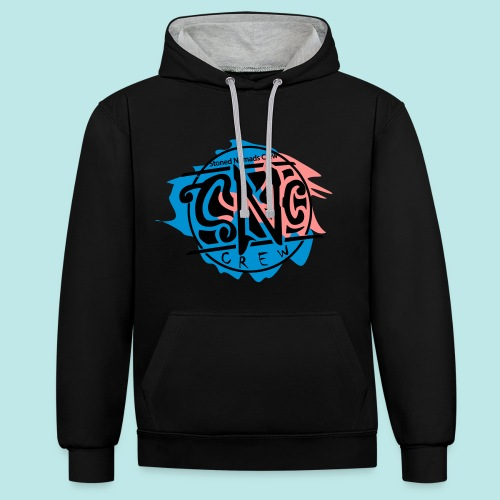 graffiti snc - crew, logo shirt - Kontrast-Hoodie