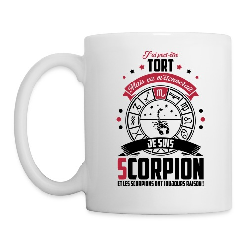 Mug BLANC scorpion - Mug blanc