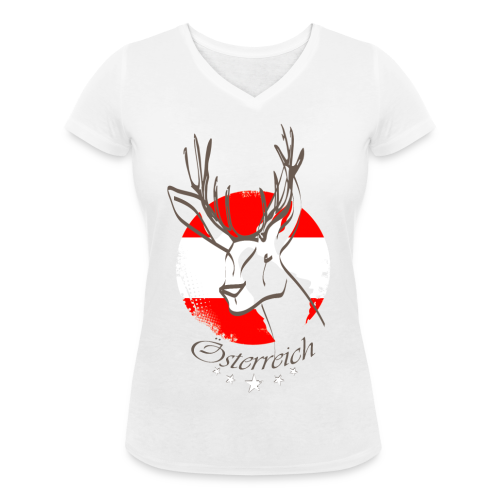 Österreich - Frauen Bio-T-Shirt mit V-Ausschnitt von Stanley & Stella