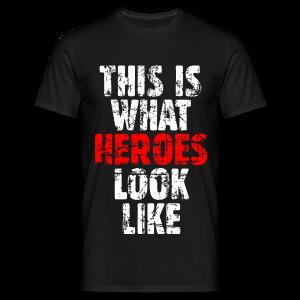 Hero T-Shirt (Weiß/Rot) Vintage - Männer T-Shirt