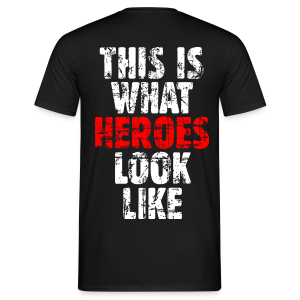 Hero T-Shirt (Weiß/Rot) Vintage Rückenaufdruck - Männer T-Shirt