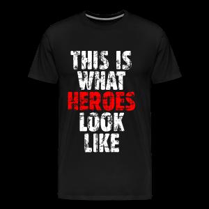 Hero T-Shirt S-5XL (Weiß/Rot) Vintage - Männer Premium T-Shirt
