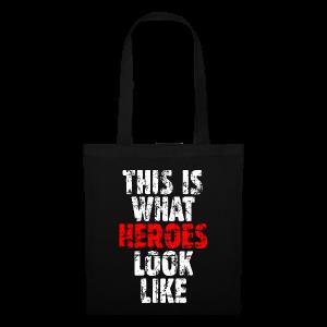 Hero Tasche (Weiß/Rot) Vintage - Stoffbeutel