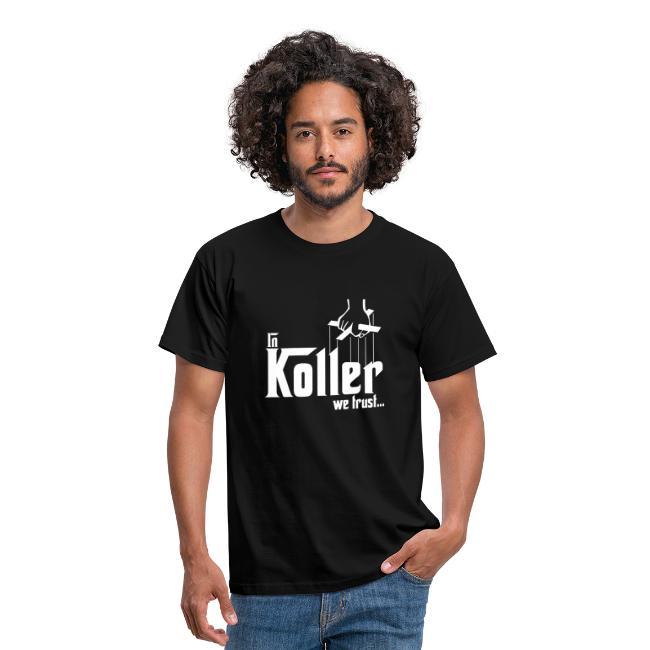 """In Koller we trust - Godfather"" (Männer T-Shirt, schwarz)"